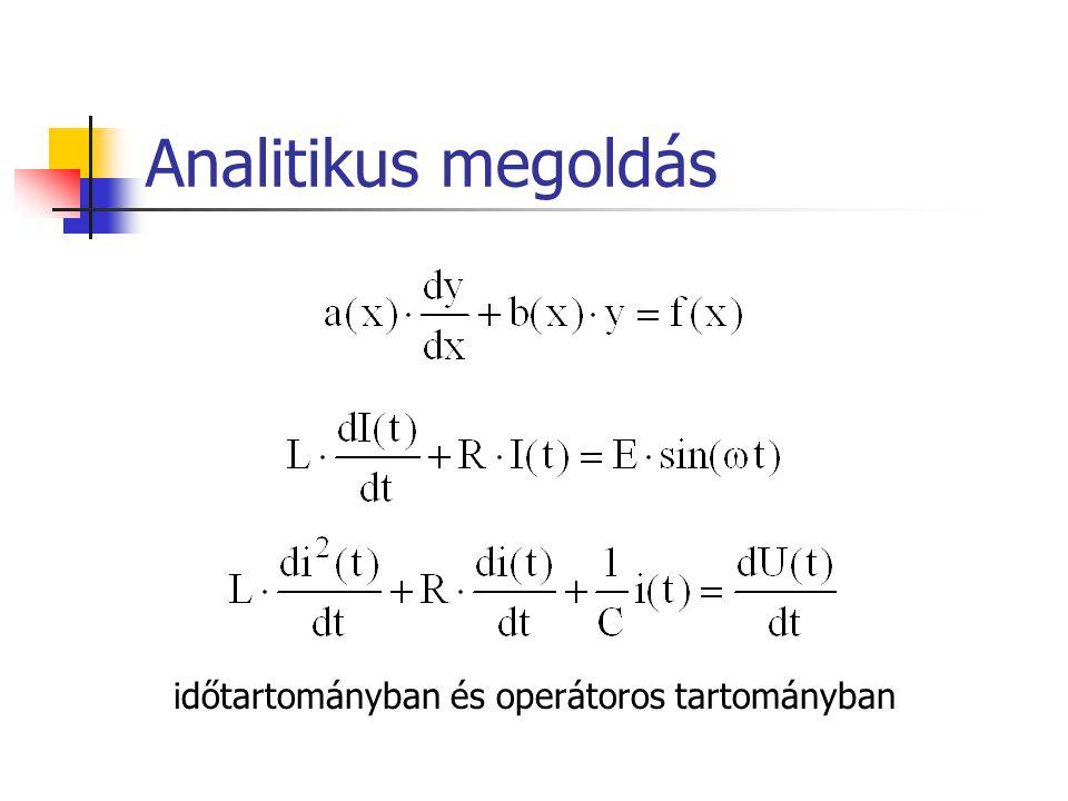 Analitikus megoldás időtartományban és operátoros tartományban