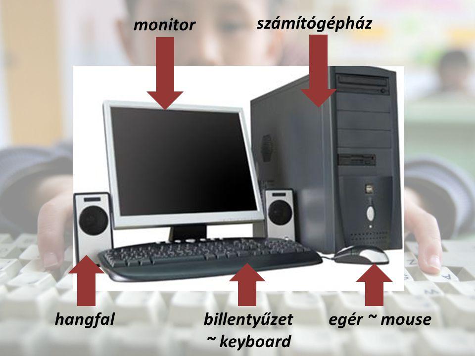 monitor számítógépház hangfalbillentyűzet ~ keyboard egér ~ mouse