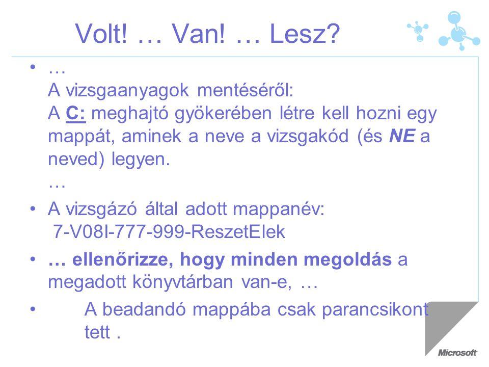Volt.… Van. … Lesz.