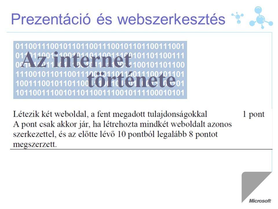 Prezentáció és webszerkesztés