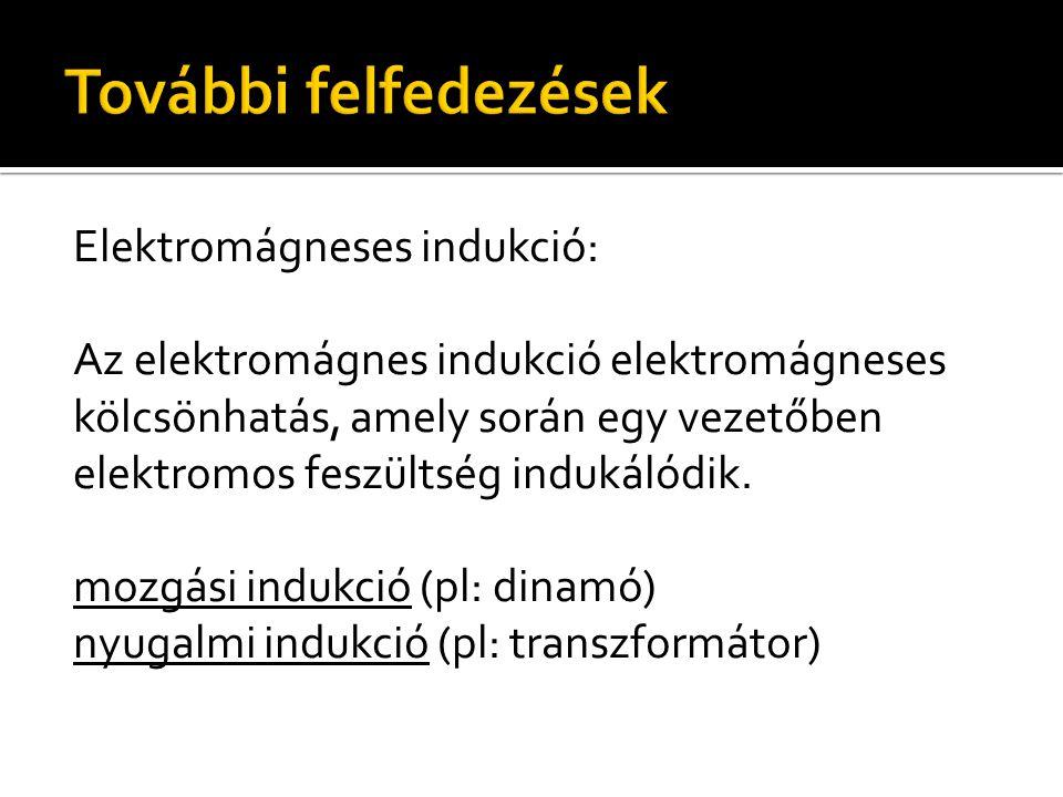 Elektromágneses indukció: Az elektromágnes indukció elektromágneses kölcsönhatás, amely során egy vezetőben elektromos feszültség indukálódik. mozgási