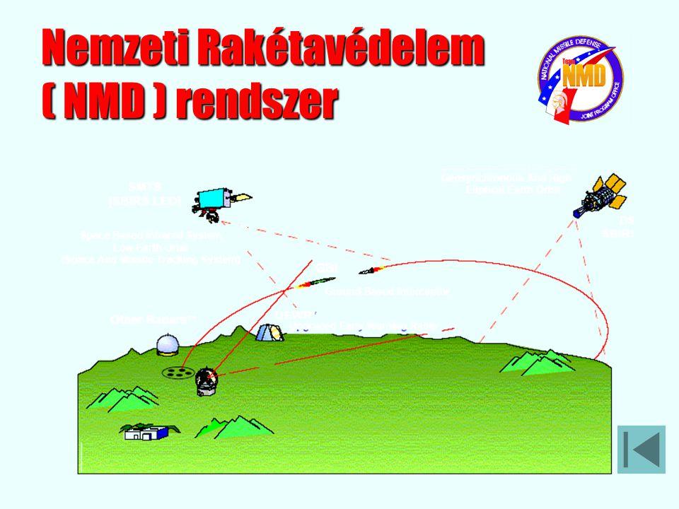 """A Nemzeti Rakétavédelem (National Missile Defense – NMD) feladata az Egyesült Államok mind az 50 tagállamának megvédése a """"bandita"""" államok korlátozot"""