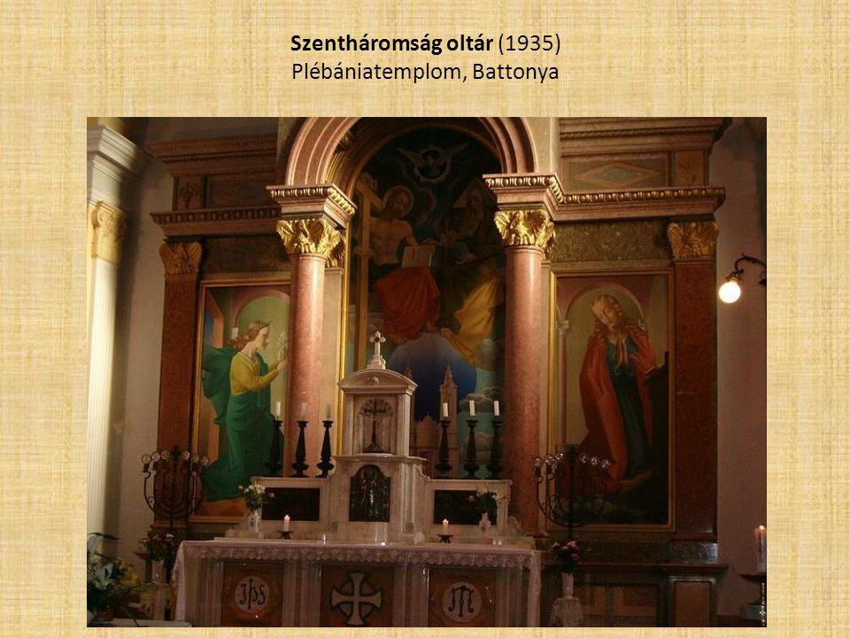 Szentháromság oltár (1935) Plébániatemplom, Battonya