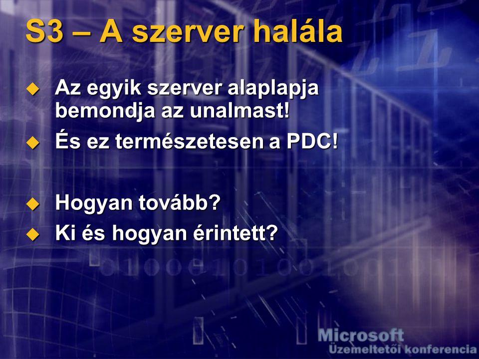 S4 – A felhasználói adatbázis halála...