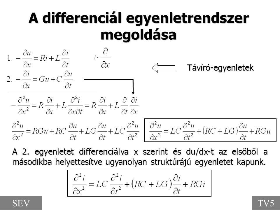 A 2. egyenletet differenciálva x szerint és du/dx-t az elsőből a másodikba helyettesítve ugyanolyan struktúrájú egyenletet kapunk. A differenciál egye