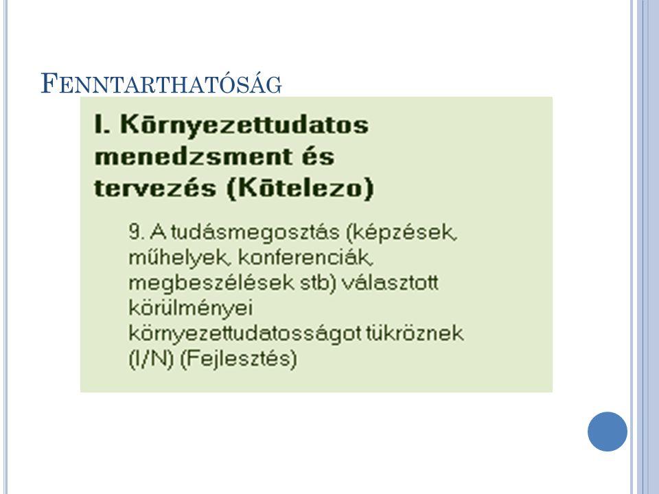 F ENNTARTHATÓSÁG