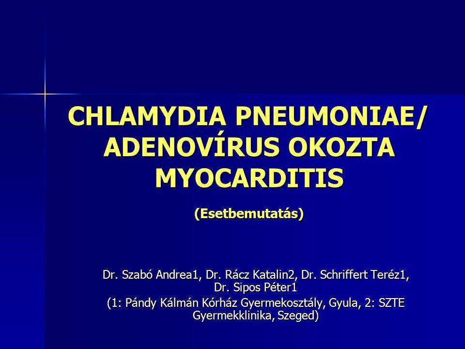 CHLAMYDIA PNEUMONIAE/ ADENOVÍRUS OKOZTA MYOCARDITIS (Esetbemutatás) Dr.