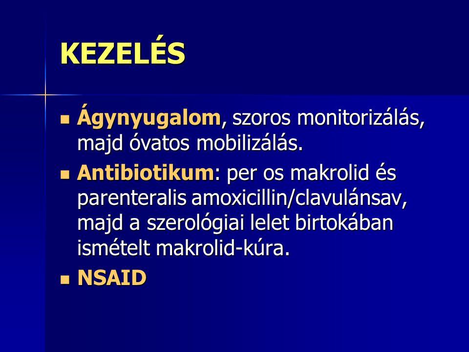 PROGNÓZIS A myocarditises esetek nagy része tünetmentes vagy enyhe lefolyású.