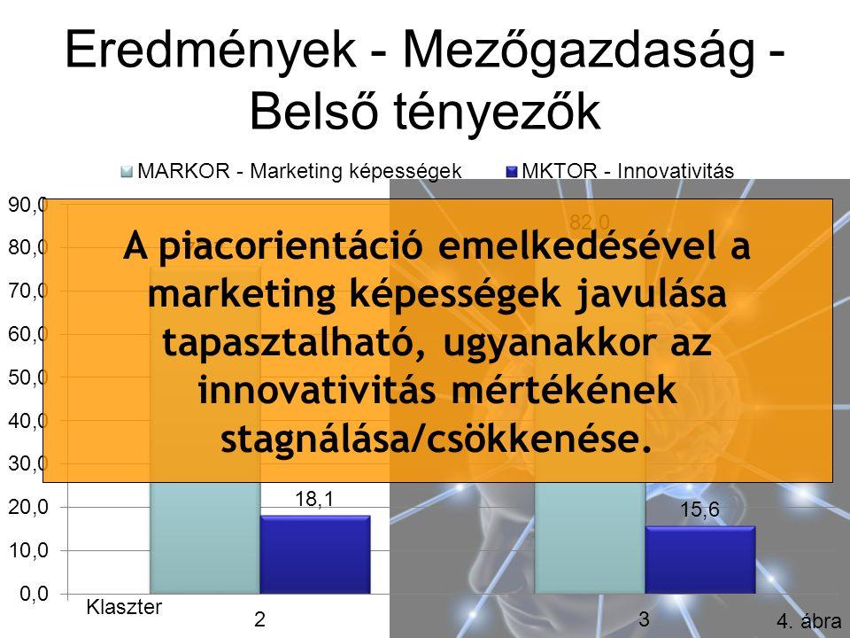 Eredmények - Mezőgazdaság - Belső tényezők Klaszter 4.
