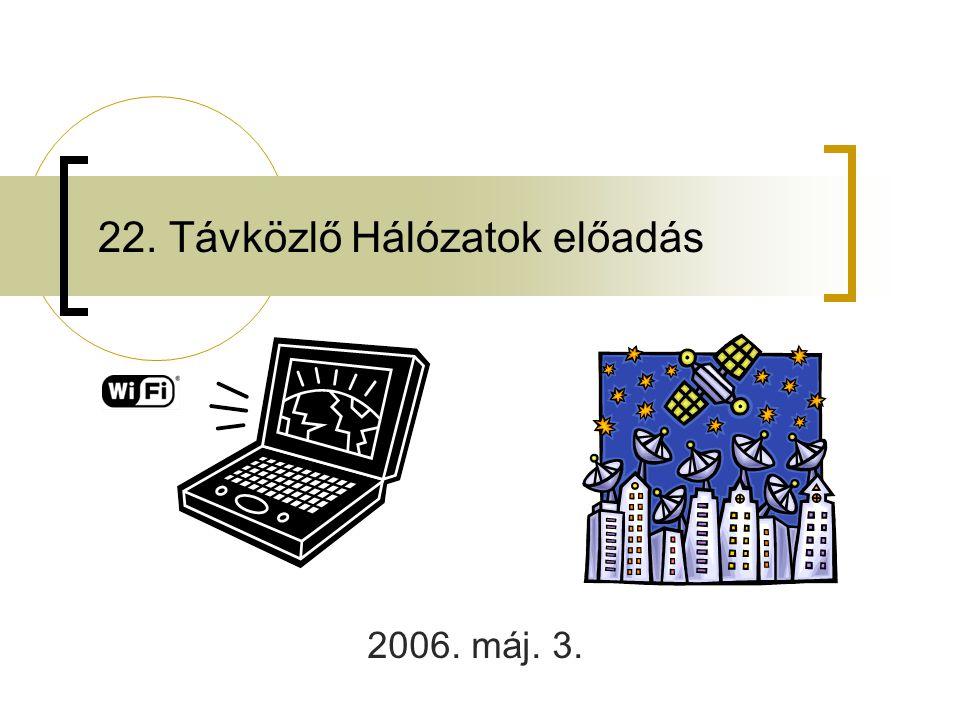 22. Távközlő Hálózatok előadás 2006. máj. 3.