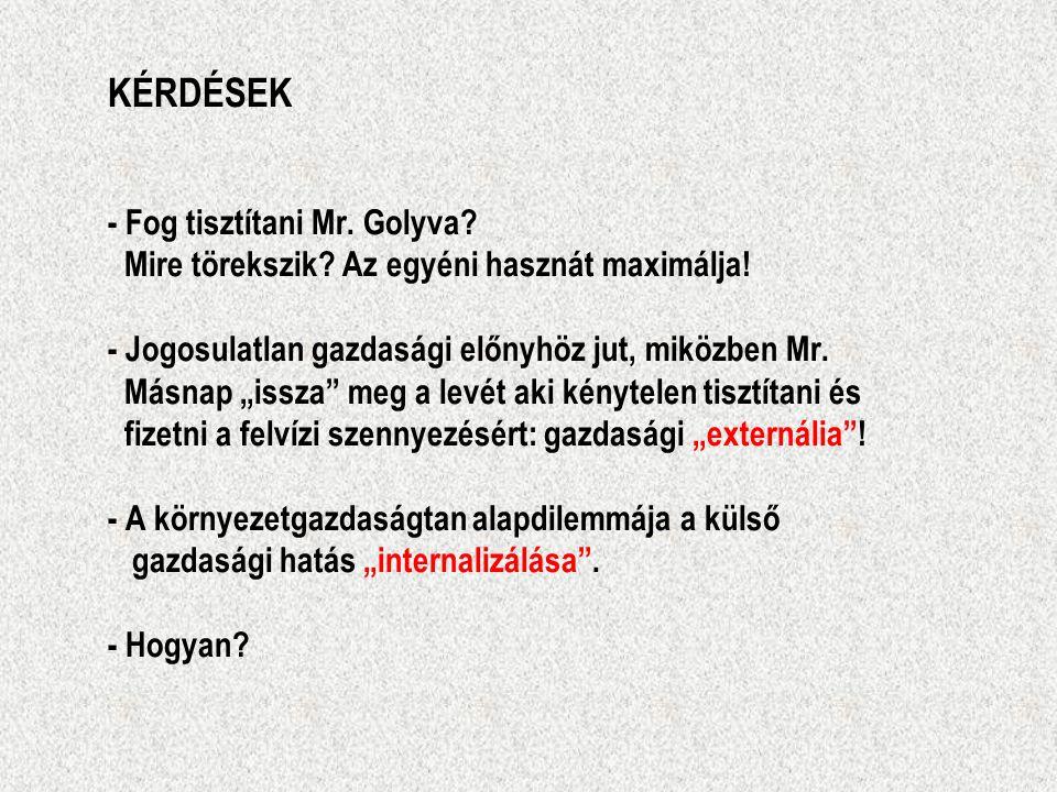 """KÉRDÉSEK - Fog tisztítani Mr. Golyva? Mire törekszik? Az egyéni hasznát maximálja! - Jogosulatlan gazdasági előnyhöz jut, miközben Mr. Másnap """"issza"""""""