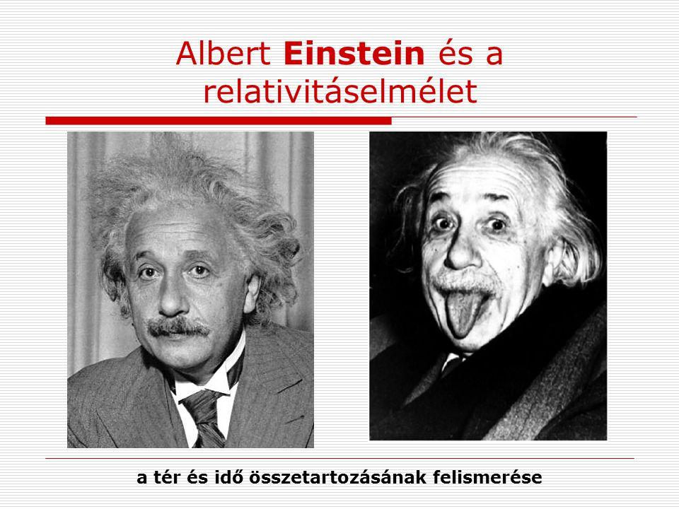 Albert Einstein és a relativitáselmélet a tér és idő összetartozásának felismerése