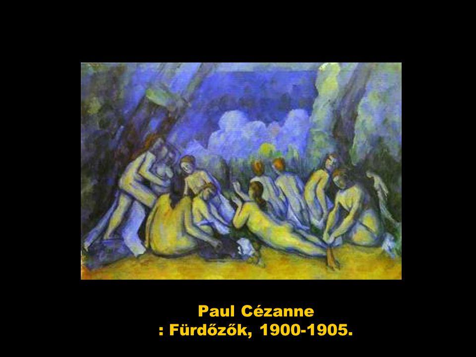 Paul Cézanne : Fürdőzők, 1900-1905.