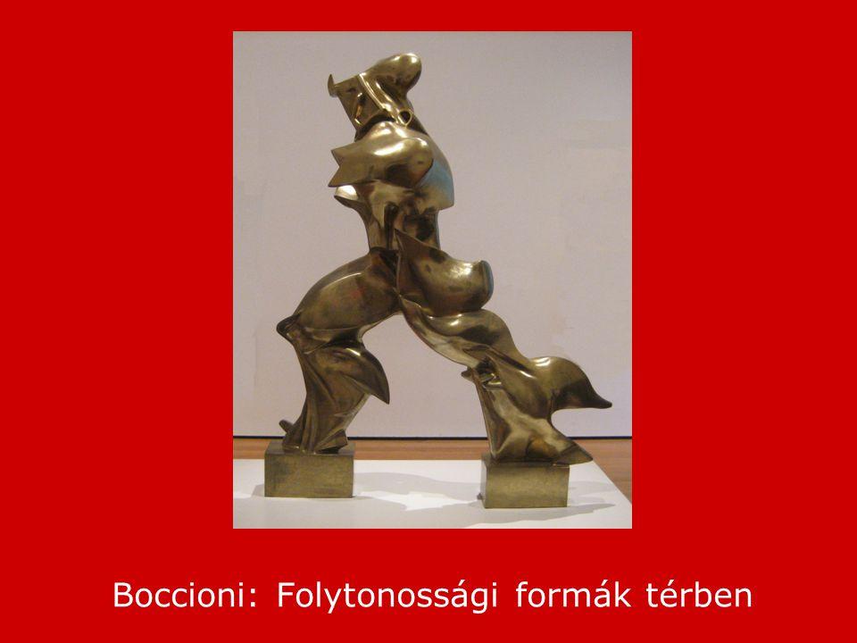 Boccioni: Folytonossági formák térben