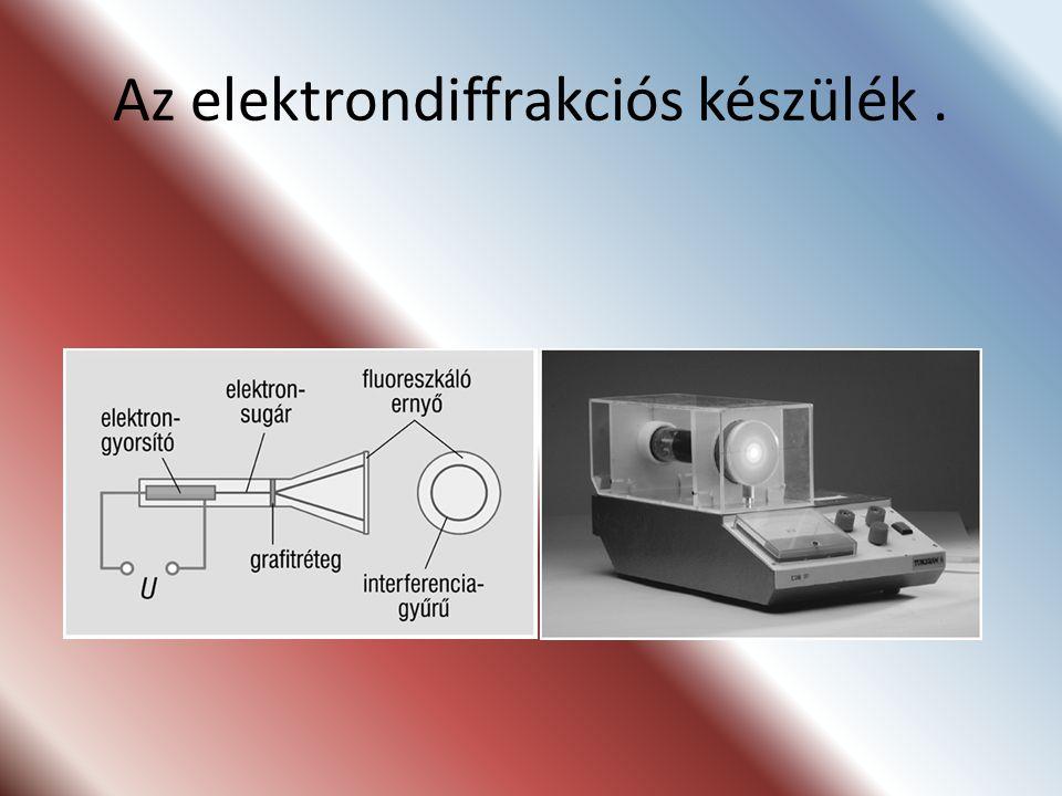 Az elektrondiffrakciós készülék.