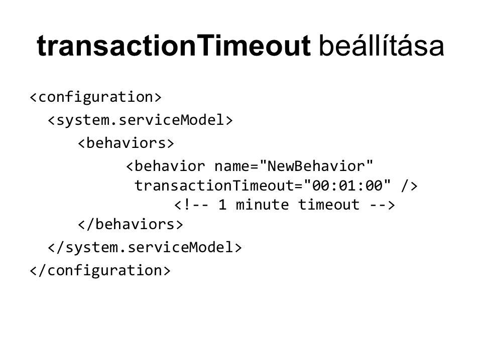 transactionTimeout beállítása