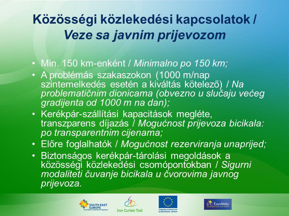 Közösségi közlekedési kapcsolatok / Veze sa javnim prijevozom Min.