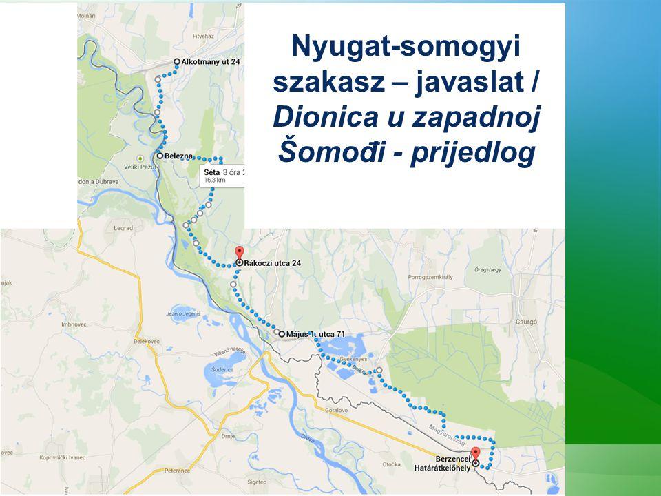 Nyugat-somogyi szakasz – javaslat / Dionica u zapadnoj Šomođi - prijedlog