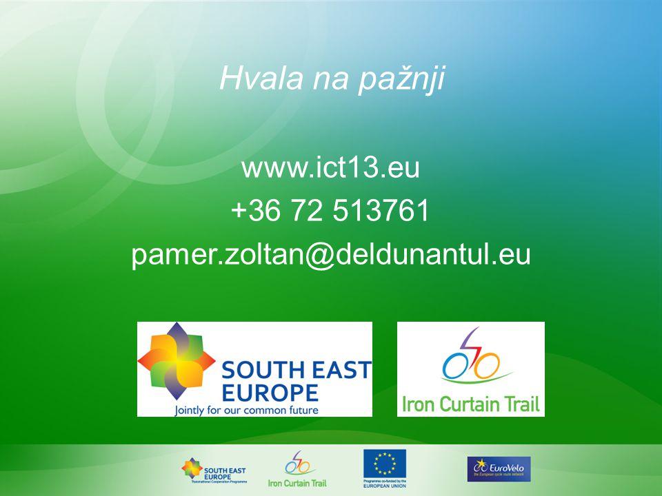 Hvala na pažnji www.ict13.eu +36 72 513761 pamer.zoltan@deldunantul.eu