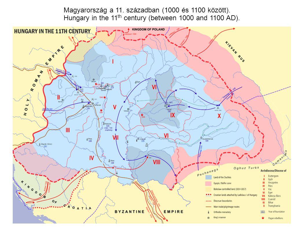 Magyarország a 11. században (1000 és 1100 között).