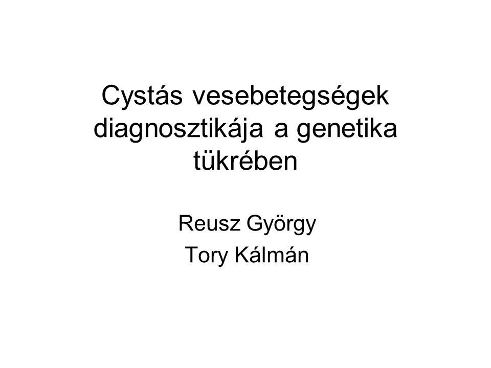 Cystás vesebetegségek diagnosztikája a genetika tükrében Reusz György Tory Kálmán