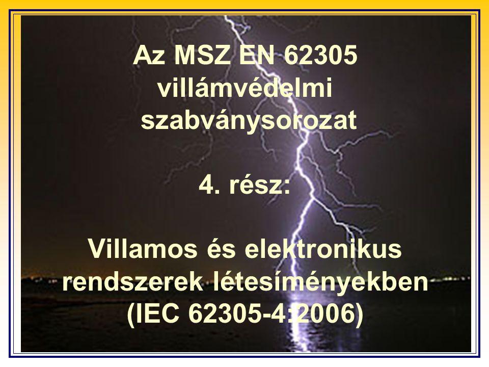Az MSZ EN 62305 villámvédelmi szabványsorozat 4.