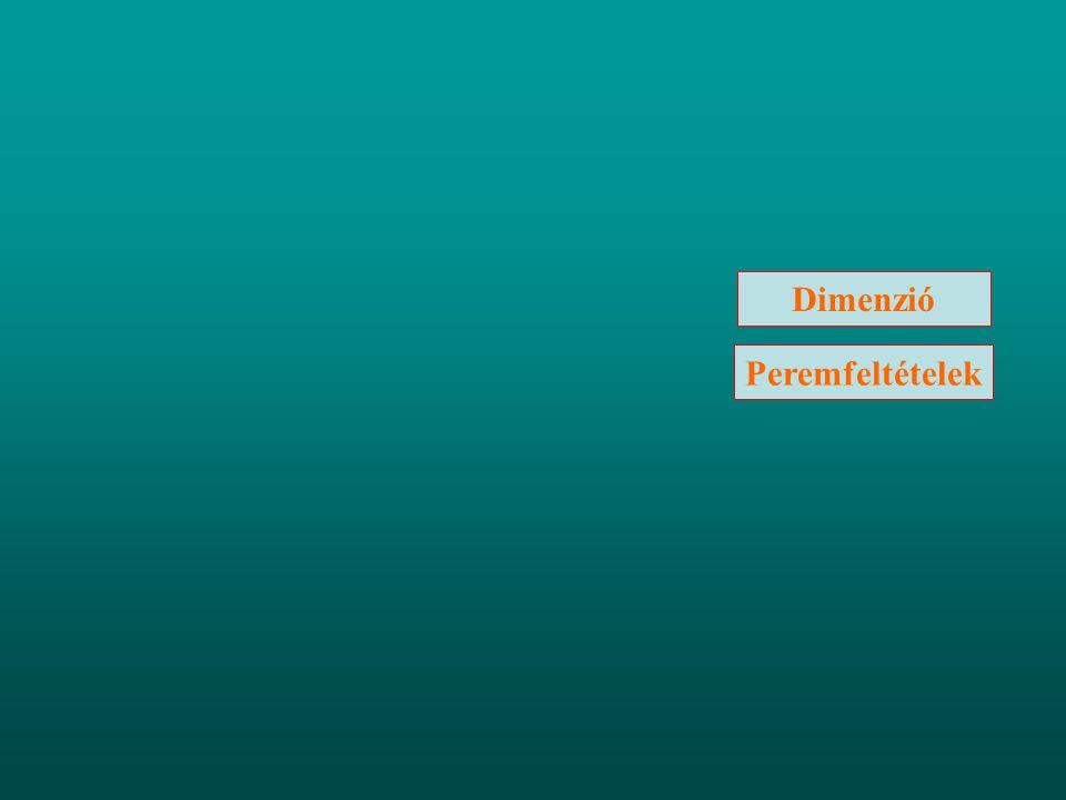 Peremfeltételek Dimenzió