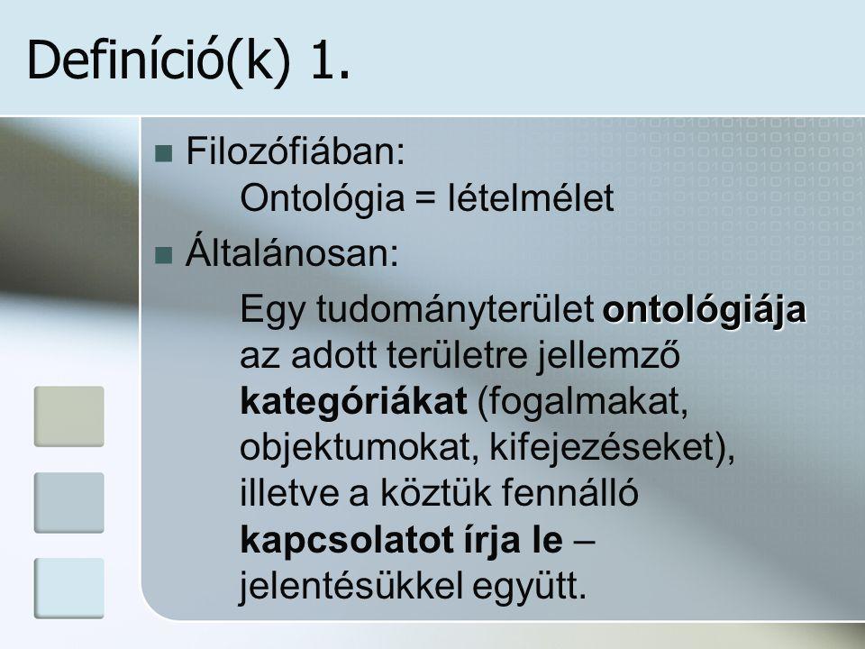 Definíció(k) 1.