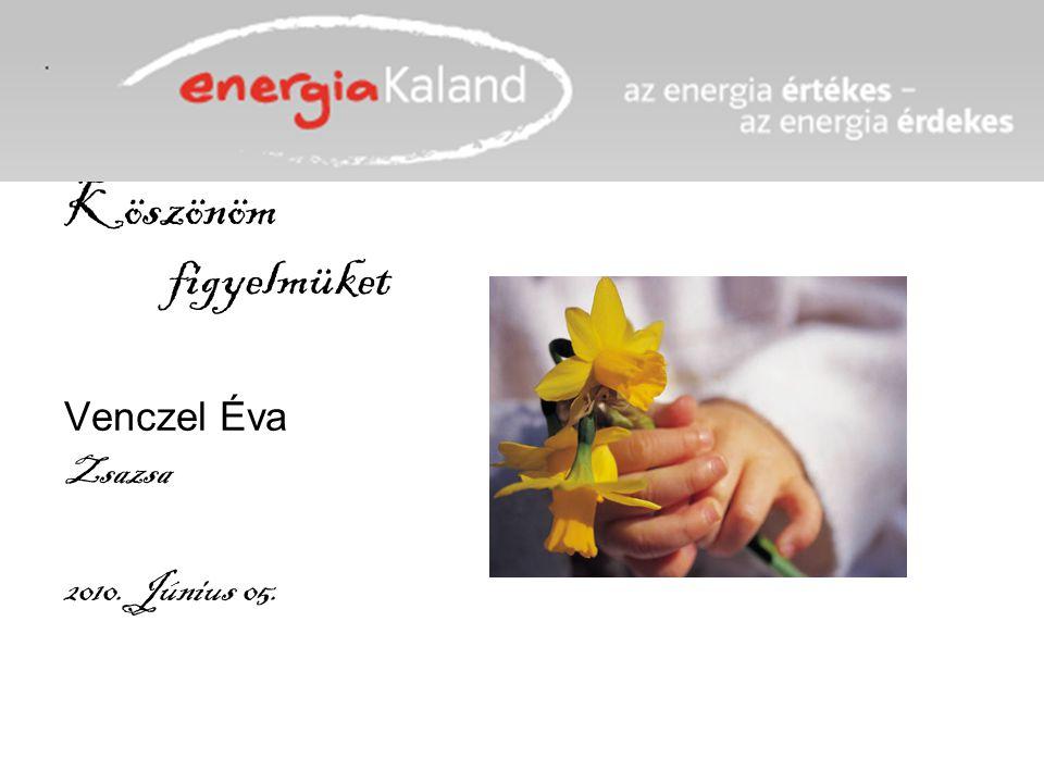 Köszönöm figyelmüket Venczel Éva Zsazsa 2010. Június 05.