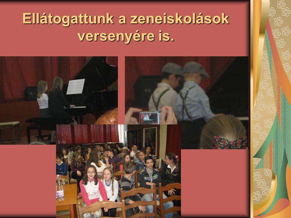 Ellátogattunk a zeneiskolások versenyére is.