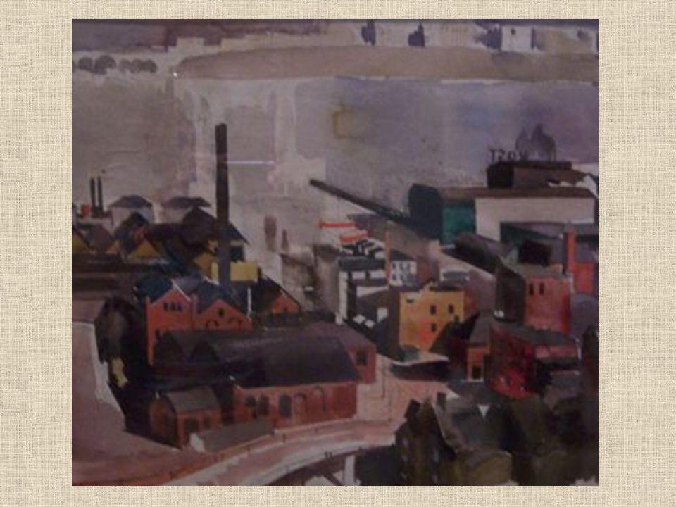 New York Az ötödik termet tagoló kisebb kabi- netben Aba - Novák 1935 - ös New York – i útján készült akvarell- vázlatok idézik meg egy izgalmas utazás élményét.