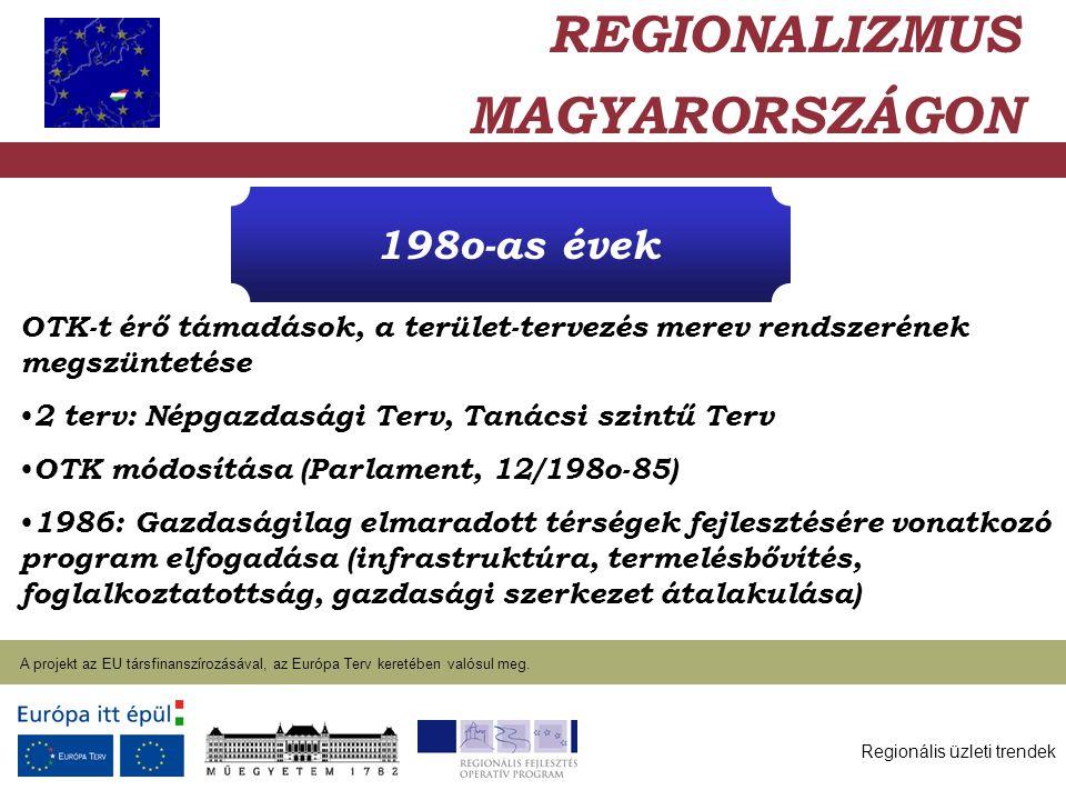 Regionális üzleti trendek A projekt az EU társfinanszírozásával, az Európa Terv keretében valósul meg. 2004. január 27. OTK-t érő támadások, a terület