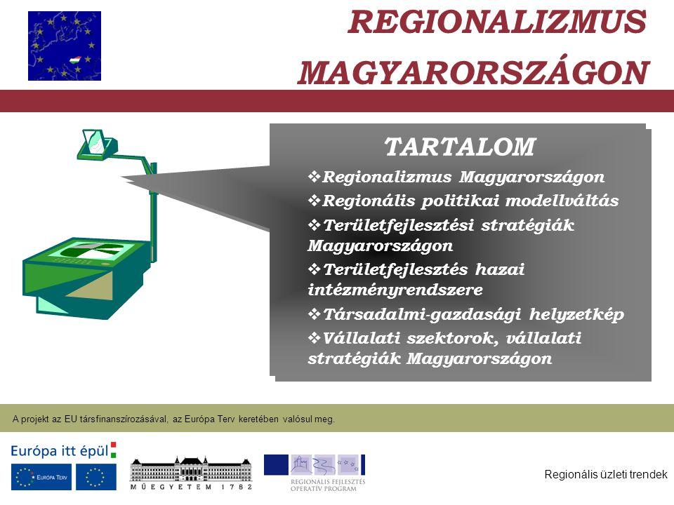 Regionális üzleti trendek A projekt az EU társfinanszírozásával, az Európa Terv keretében valósul meg. 2004. január 27. TARTALOM  Regionalizmus Magya