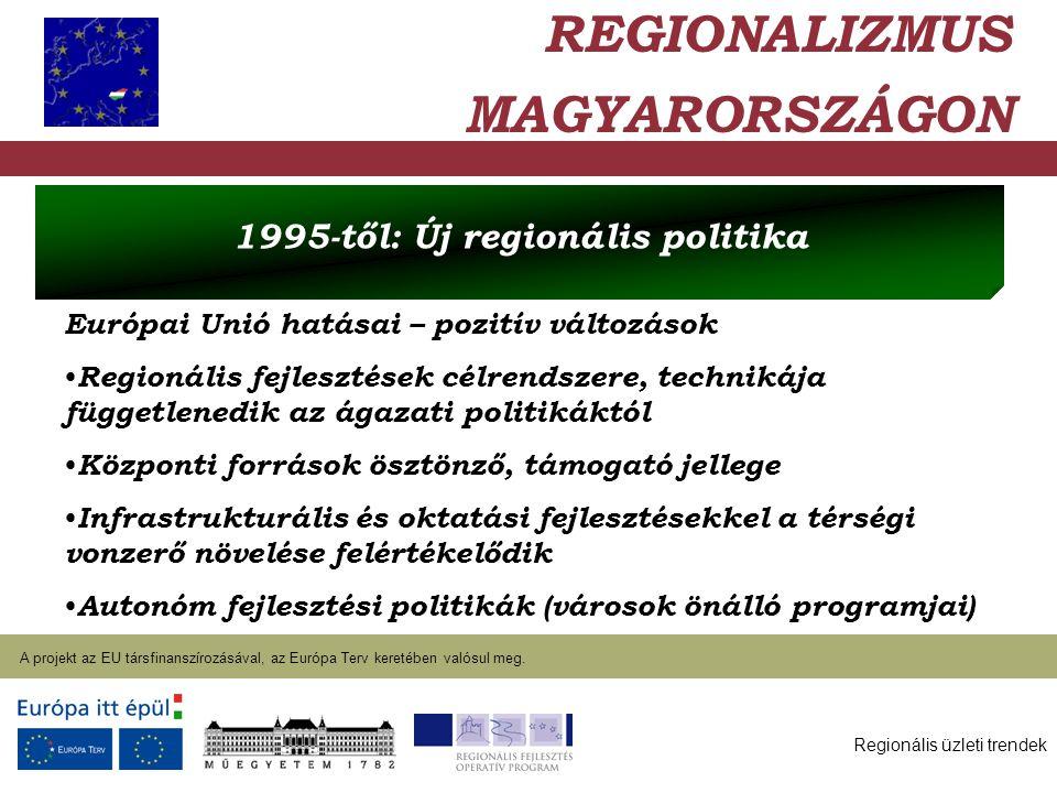 Regionális üzleti trendek A projekt az EU társfinanszírozásával, az Európa Terv keretében valósul meg. 2004. január 27. Európai Unió hatásai – pozitív