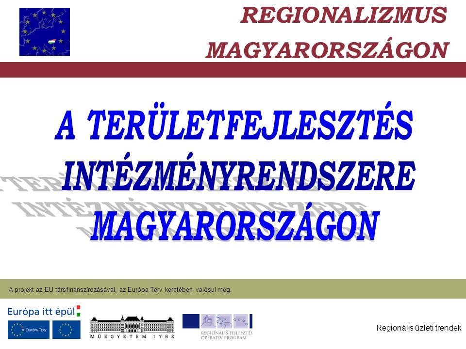 Regionális üzleti trendek A projekt az EU társfinanszírozásával, az Európa Terv keretében valósul meg. 2004. január 27. REGIONALIZMUS MAGYARORSZÁGON