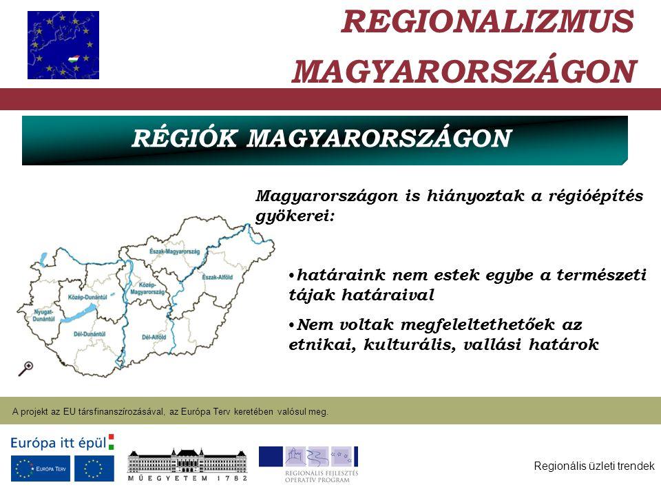 Regionális üzleti trendek A projekt az EU társfinanszírozásával, az Európa Terv keretében valósul meg. 2004. január 27. Magyarországon is hiányoztak a