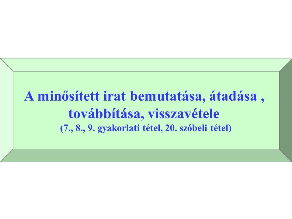 MINTA HIVATAL Ikt.szám: 1.sz. példány ELOSZTÓ az ikt.