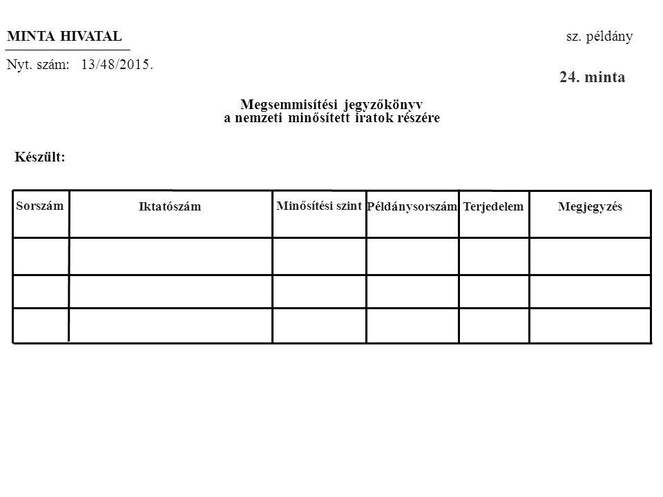 A minősített iratok megsemmisítése (23. szóbeli és az 5-6. gyakorlati tétel)