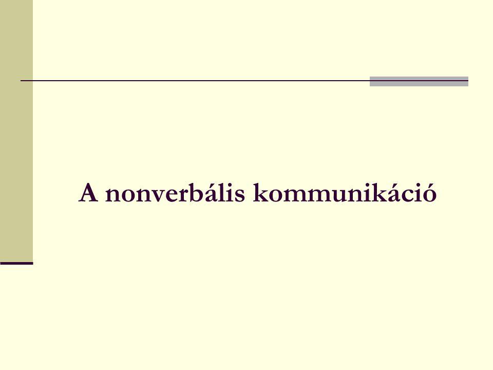 A nonverbális kommunikáció