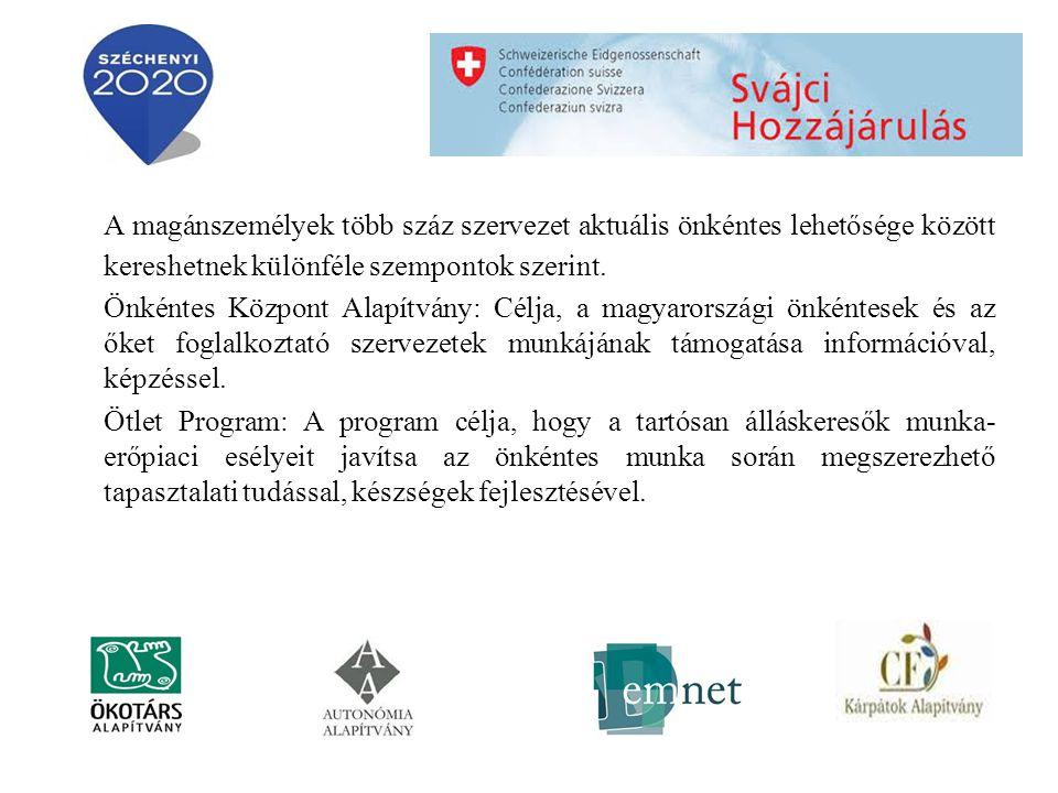 Minden civil szervezet fogadhat önkéntest.