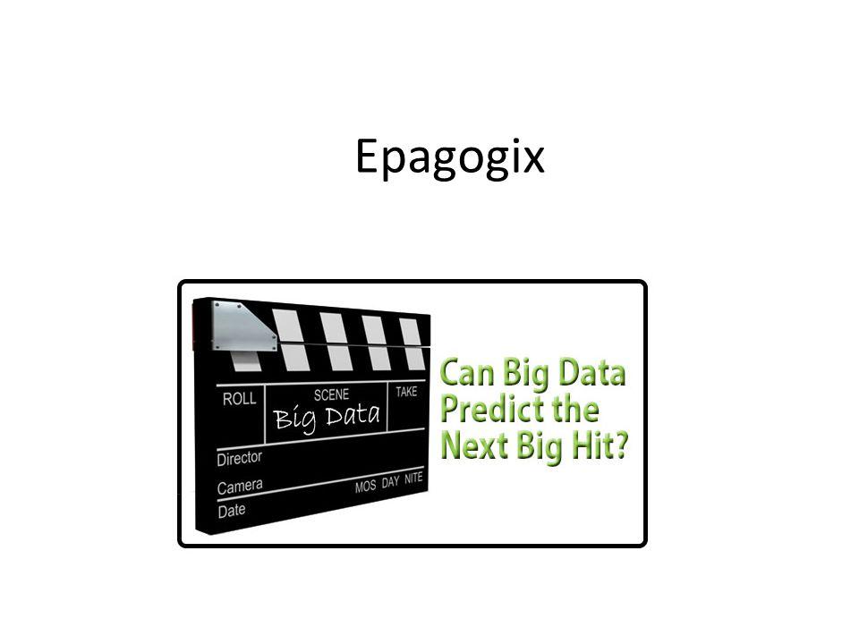 2.2 Példa: Epagogix Big Data módszerek a filmgyártásban (Ian Ayres: Super crunchers) Forgatókönyv, szereposztás elemzés, és a bevétel előrejelzése Eredmény: a filmkészítés profitabilitása nőhet Kinek kell és kinek nem kell?