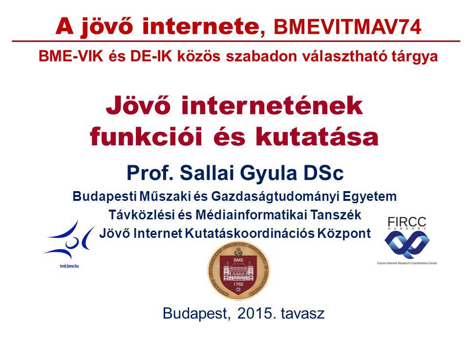 Jövő/következő generációs internet koncepciók Dr.