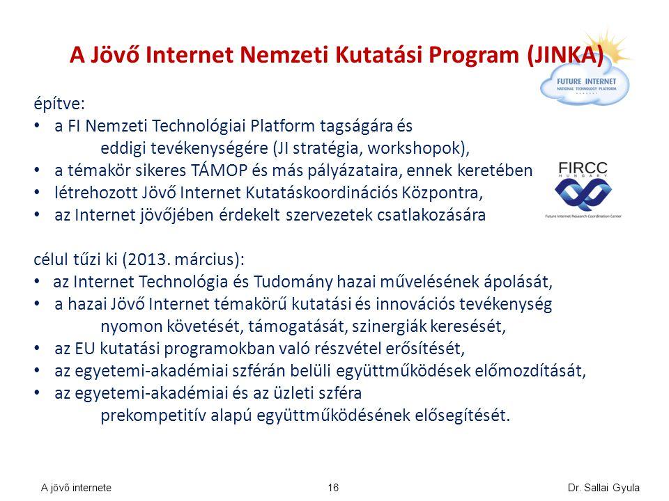 A Jövő Internet Nemzeti Kutatási Program (JINKA) építve: a FI Nemzeti Technológiai Platform tagságára és eddigi tevékenységére (JI stratégia, workshop