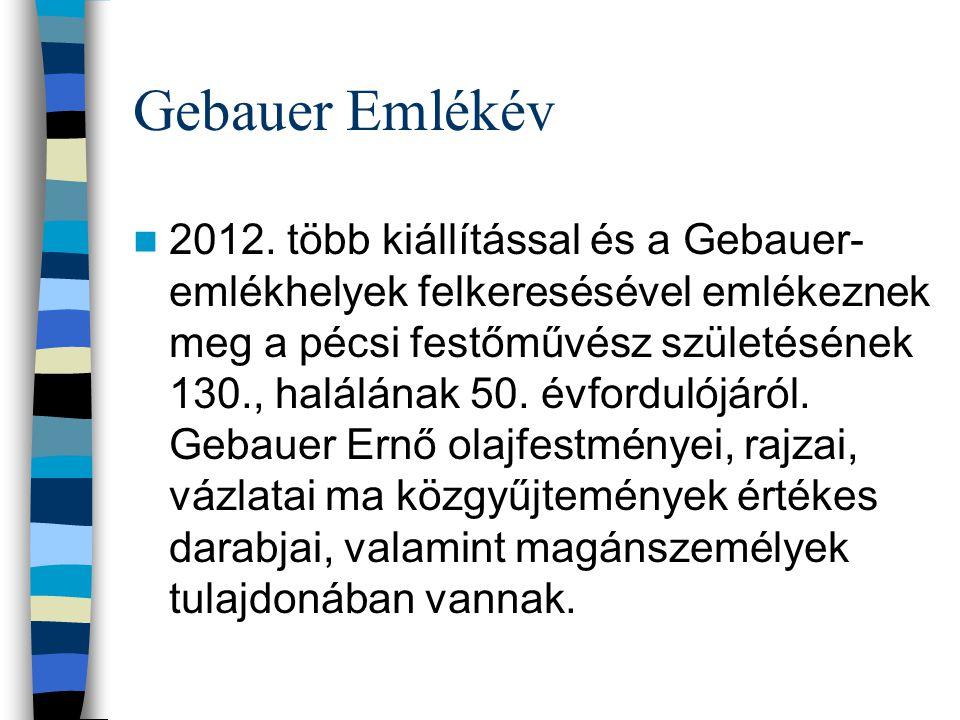 Gebauer Emlékév 2012.