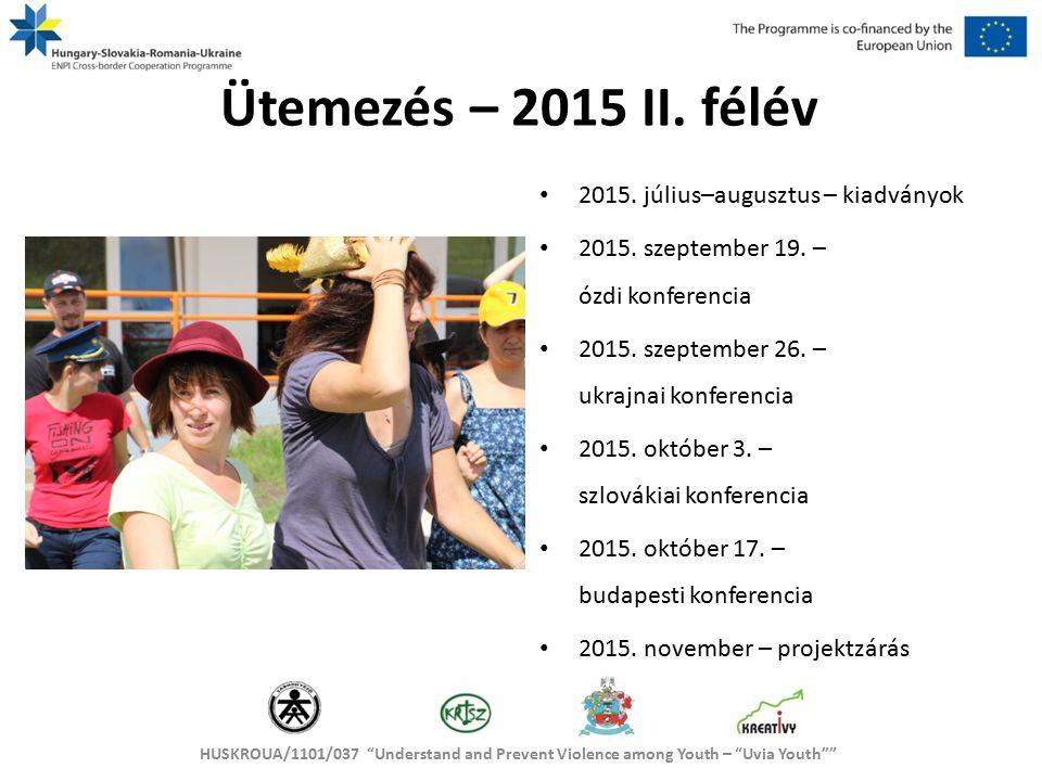 HUSKROUA/1101/037 Understand and Prevent Violence among Youth – Uvia Youth Lépésről lépésre / I.