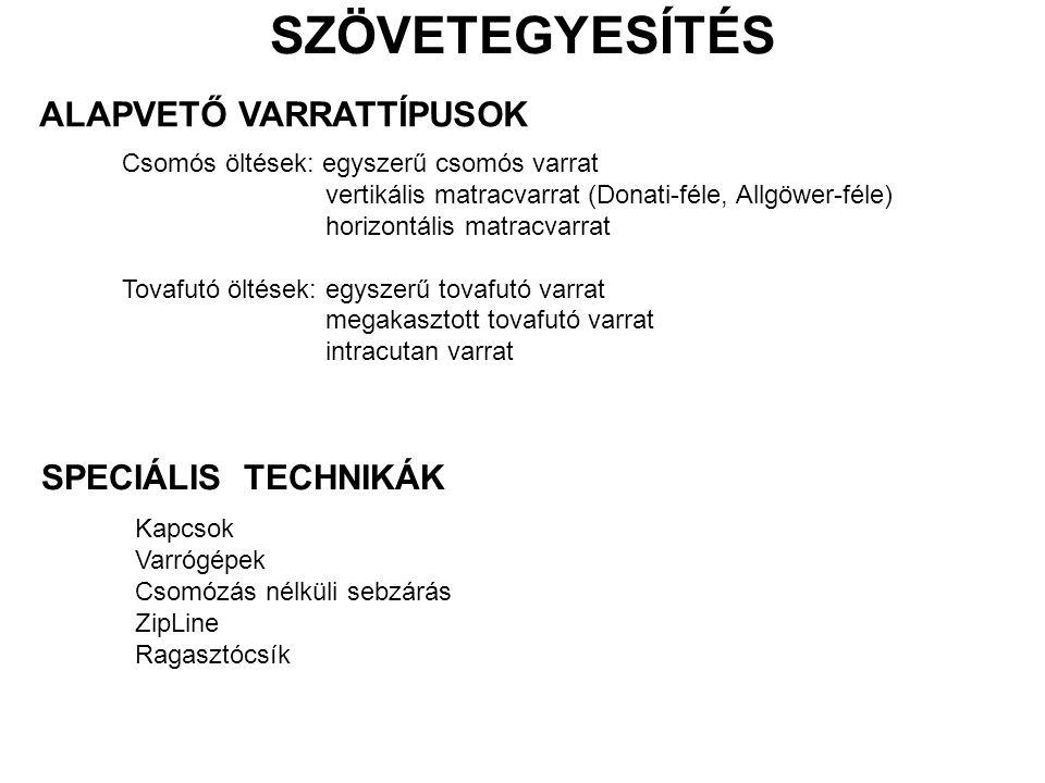 SPECIÁLIS VARRATTECHNIKÁK Körvarrógépek - GIT