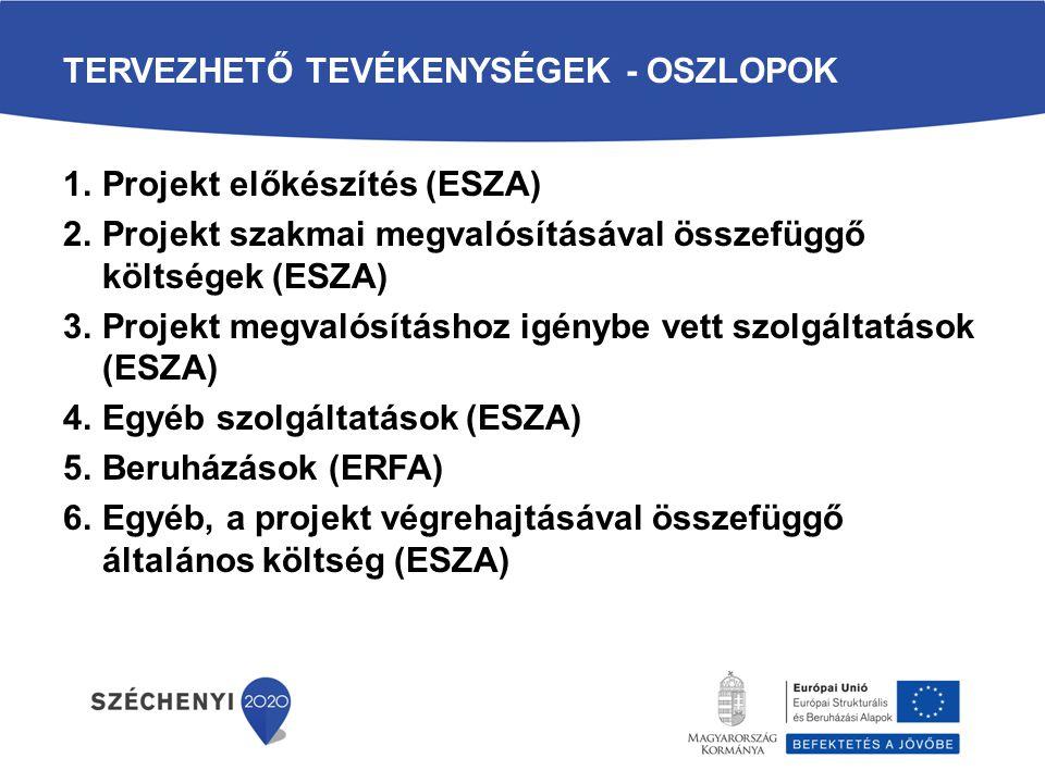 TERVEZHETŐ KÖLTSÉGEK - SOROK 113.sor Vagyoni értékű jogok 114.