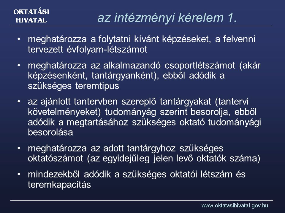 az intézményi kérelem 2.