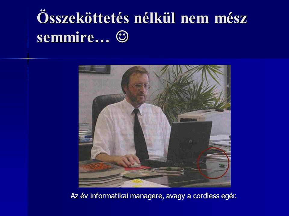 Összeköttetés nélkül nem mész semmire… Összeköttetés nélkül nem mész semmire… Az év informatikai managere, avagy a cordless egér.