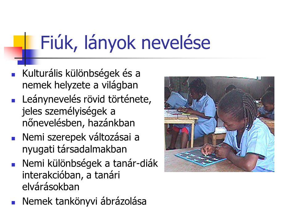 Sajátos nevelési igényű tanulók Testi-mozgásszervi, érzékszervi (látás, hallás) értelmi, beszédfogyatékos, egyéb fogyatékkal élők jellemzői, pedagógiai foglalkozás módjai integráció, szegregáció, inklúzió jelentése, értelmezése Gyógypedagógiai fogalmak Akadálymentesítés az iskolában